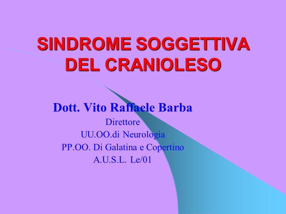 SINDROME SOGGETTIVA DEL CRANIOLESO