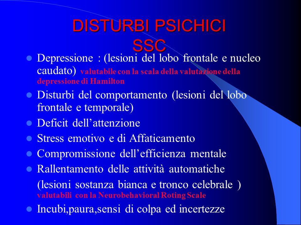 DISTURBI PSICHICI SSC