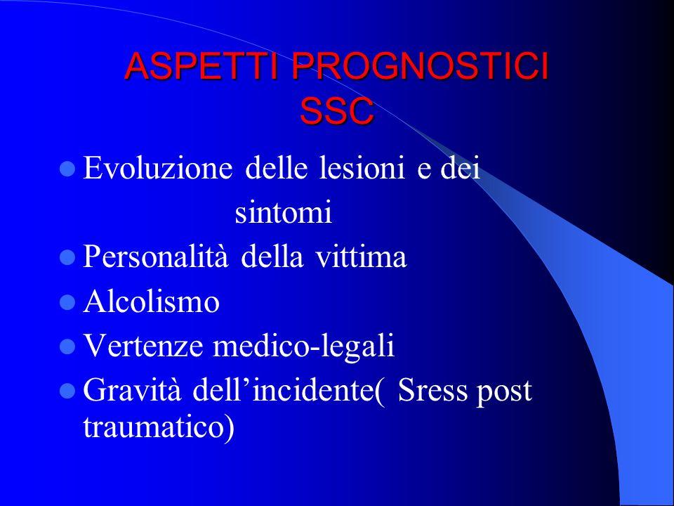 ASPETTI PROGNOSTICI SSC