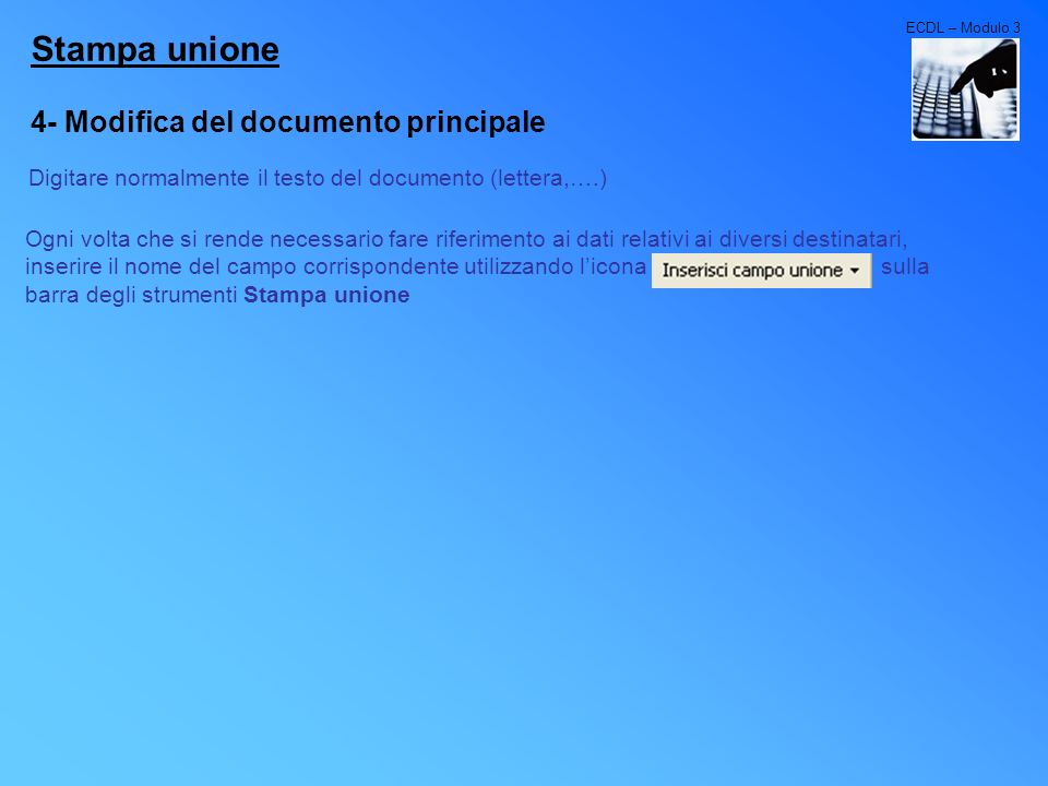 Stampa unione 4- Modifica del documento principale
