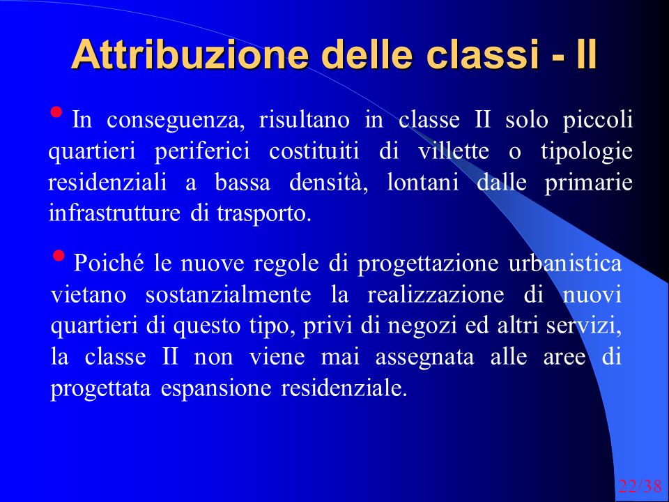 Attribuzione delle classi - II
