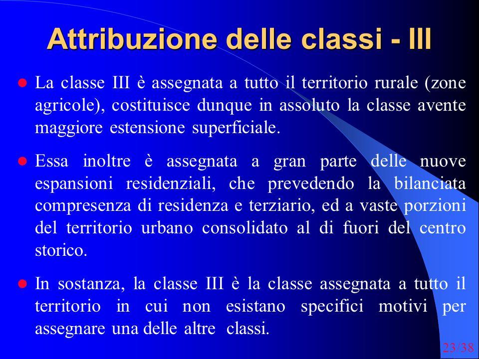 Attribuzione delle classi - III