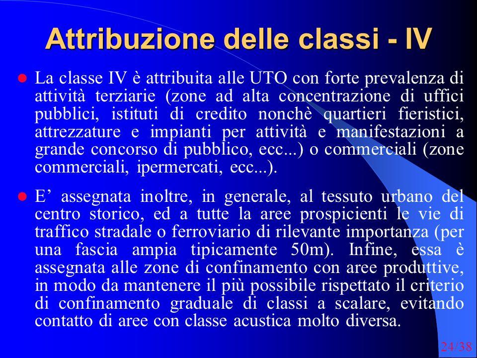 Attribuzione delle classi - IV