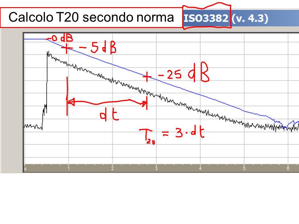 Calcolo T20 secondo norma