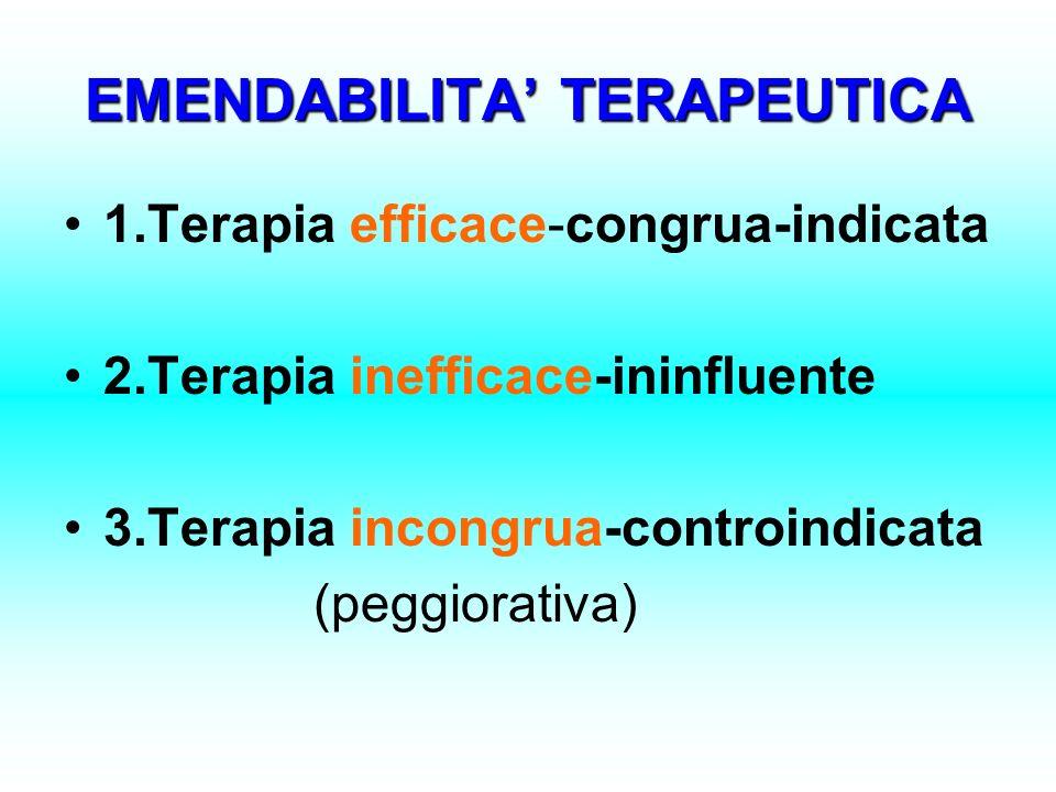 EMENDABILITA' TERAPEUTICA