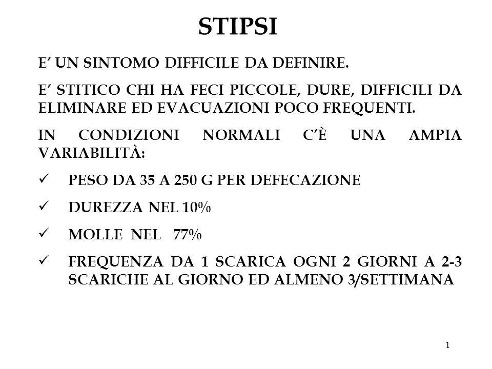 STIPSI E' UN SINTOMO DIFFICILE DA DEFINIRE.