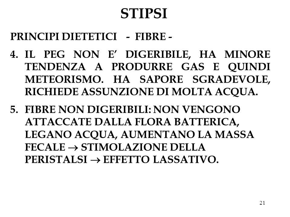 STIPSI PRINCIPI DIETETICI - FIBRE -