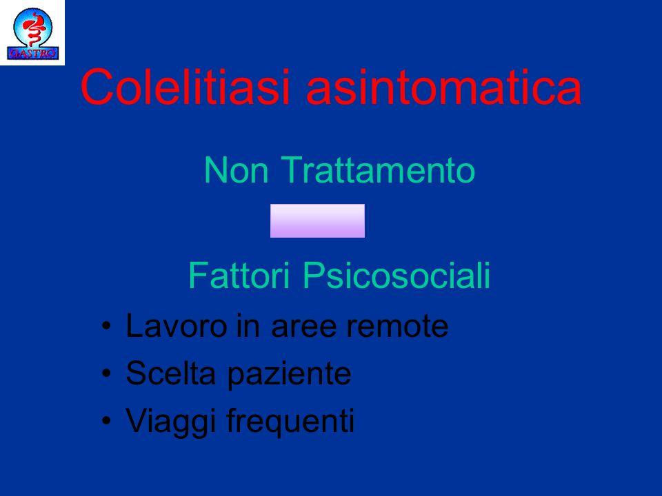 Colelitiasi asintomatica