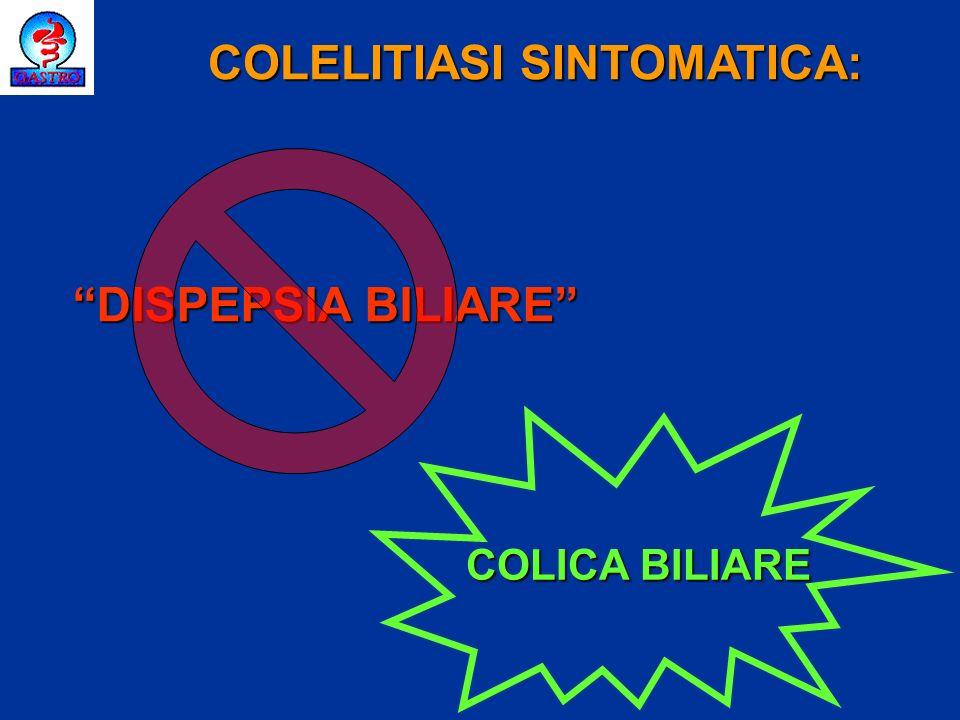 COLELITIASI SINTOMATICA: