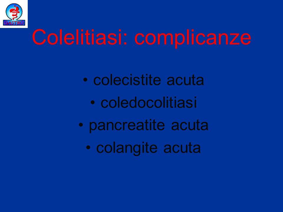 Colelitiasi: complicanze