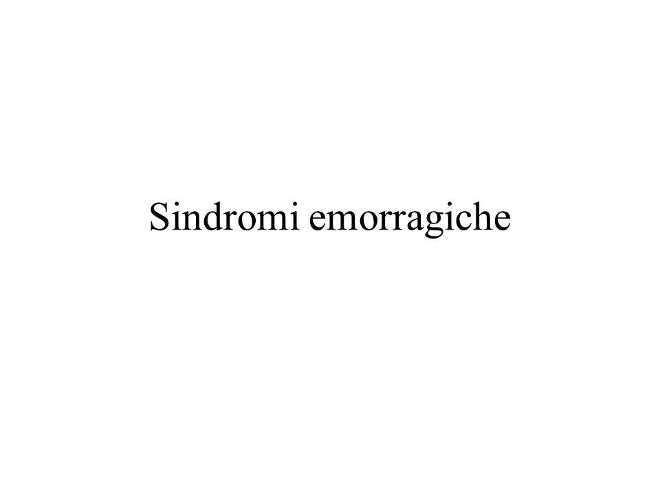 Sindromi emorragiche