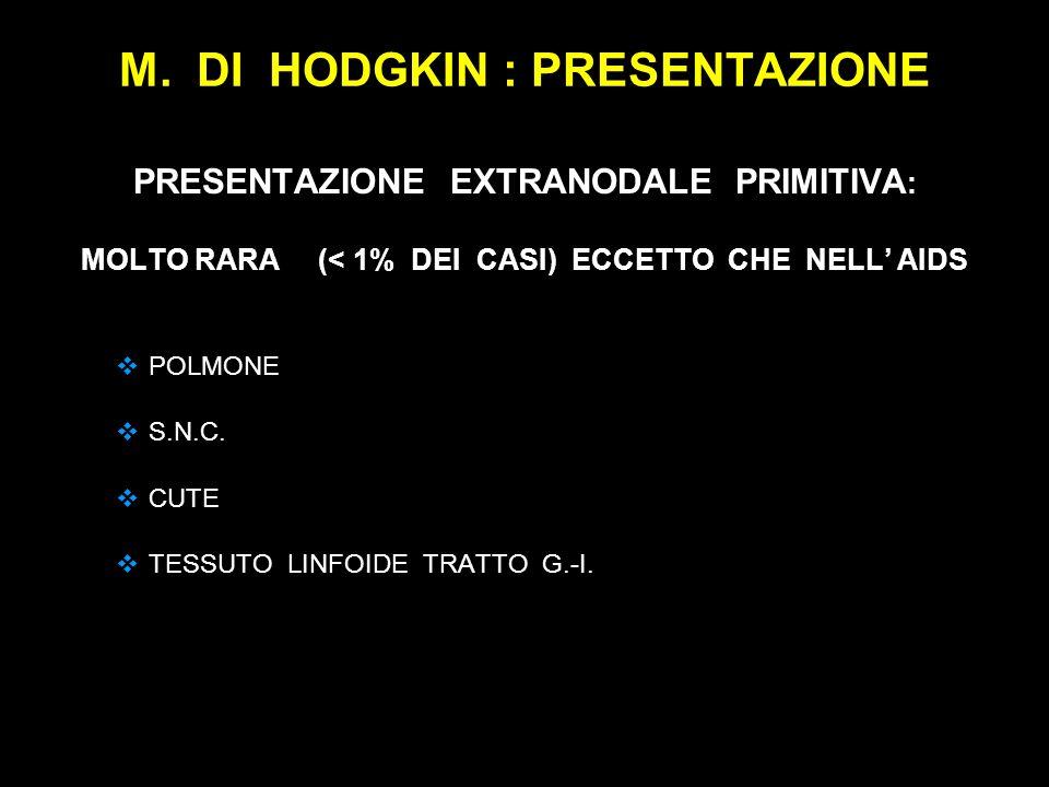 M. DI HODGKIN : PRESENTAZIONE