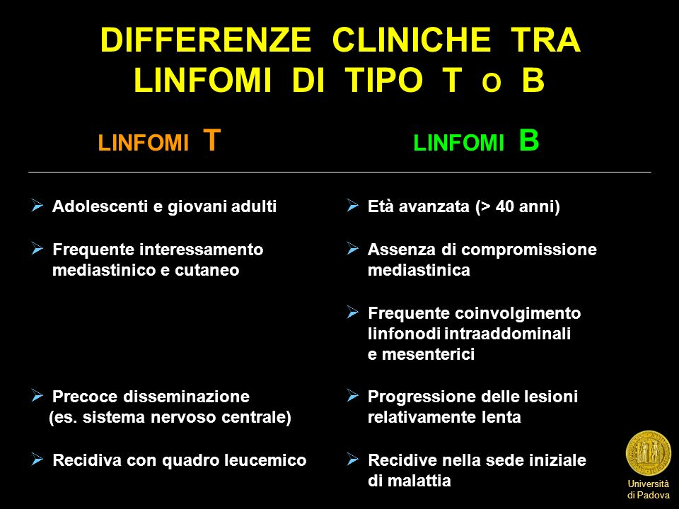 DIFFERENZE CLINICHE TRA