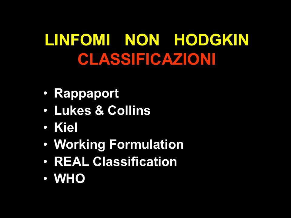 LINFOMI NON HODGKIN CLASSIFICAZIONI