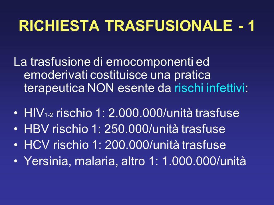 RICHIESTA TRASFUSIONALE - 1