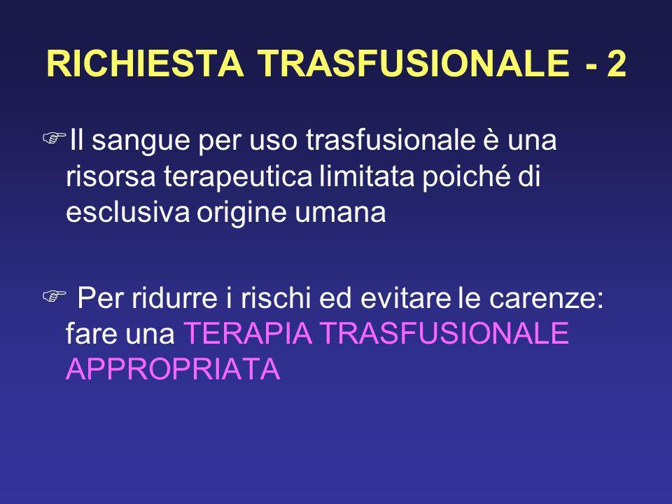 RICHIESTA TRASFUSIONALE - 2