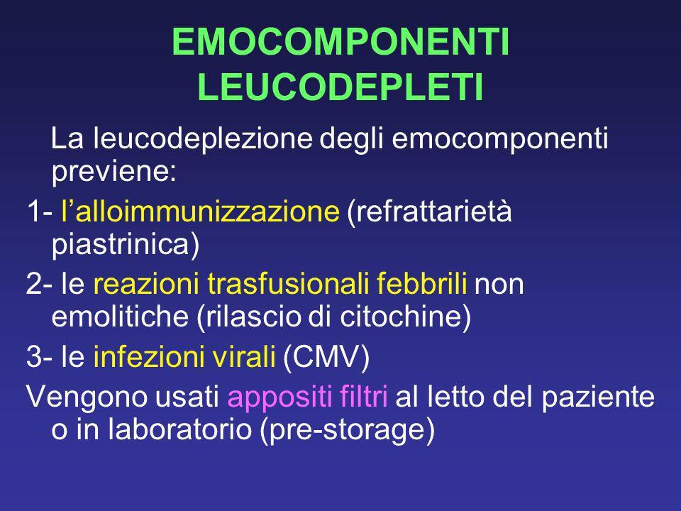 EMOCOMPONENTI LEUCODEPLETI