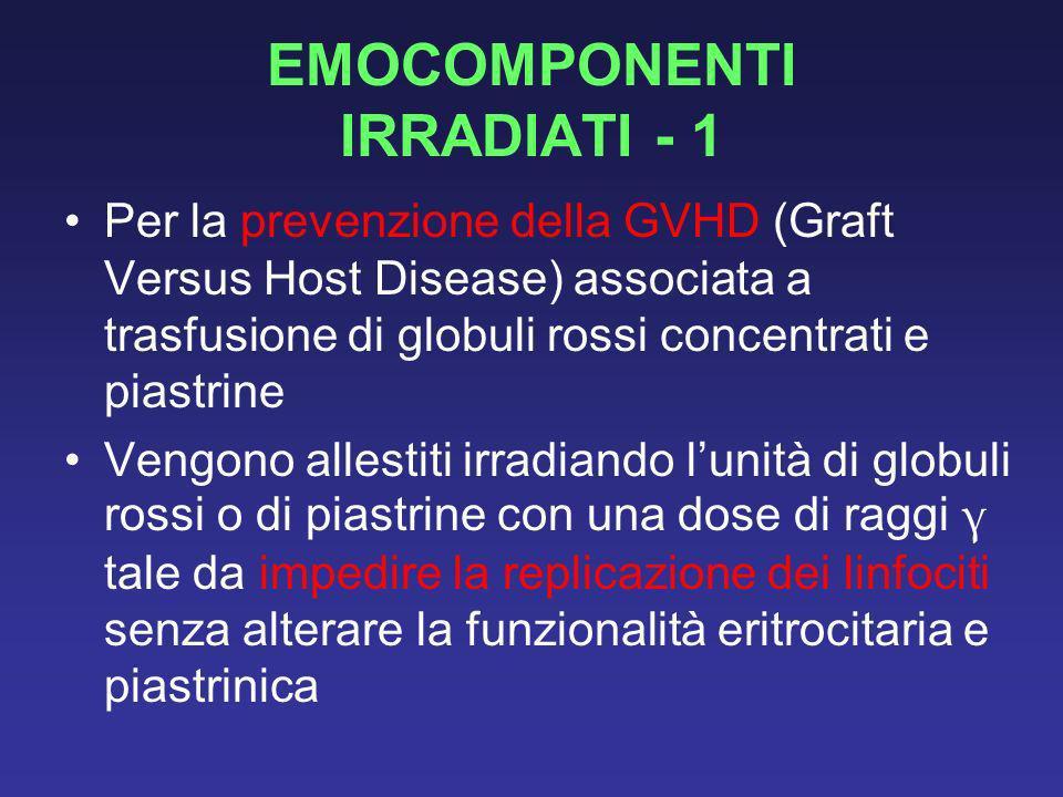 EMOCOMPONENTI IRRADIATI - 1
