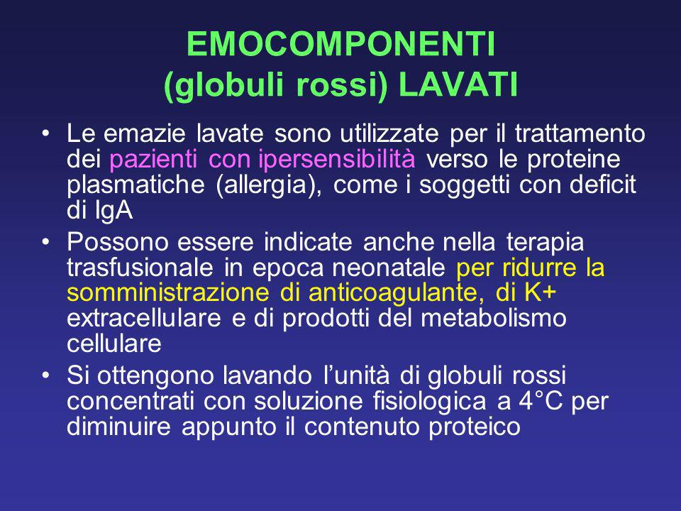 EMOCOMPONENTI (globuli rossi) LAVATI