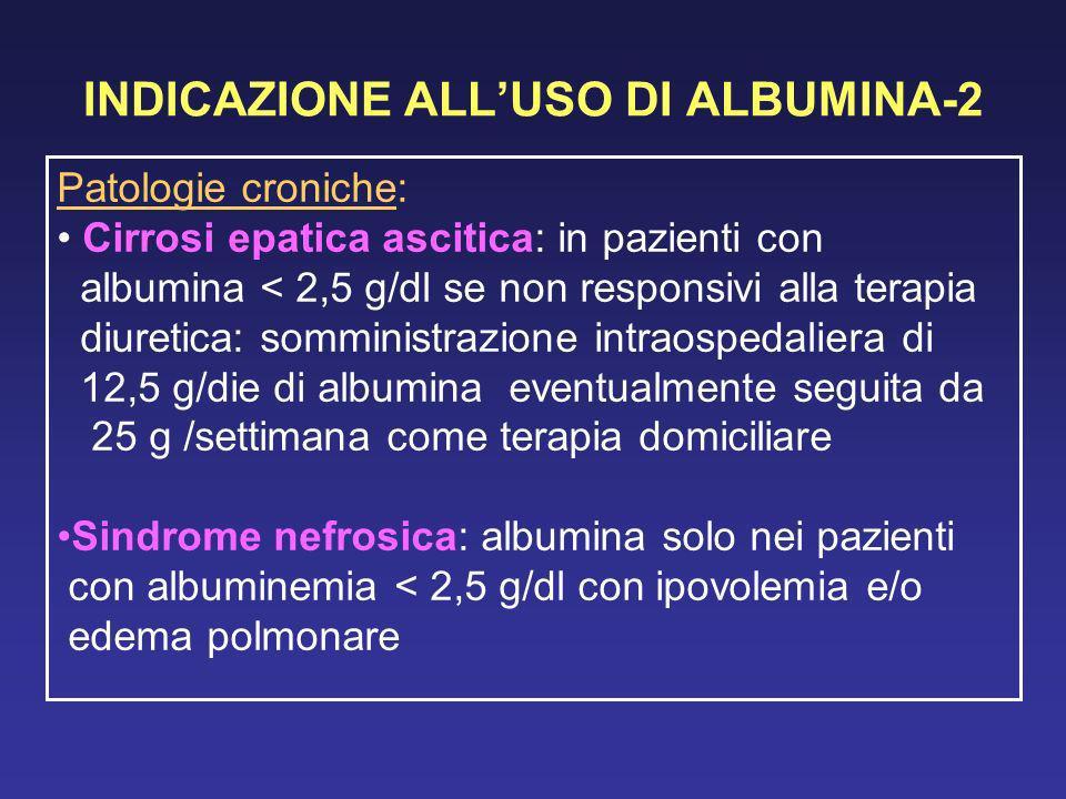 INDICAZIONE ALL'USO DI ALBUMINA-2