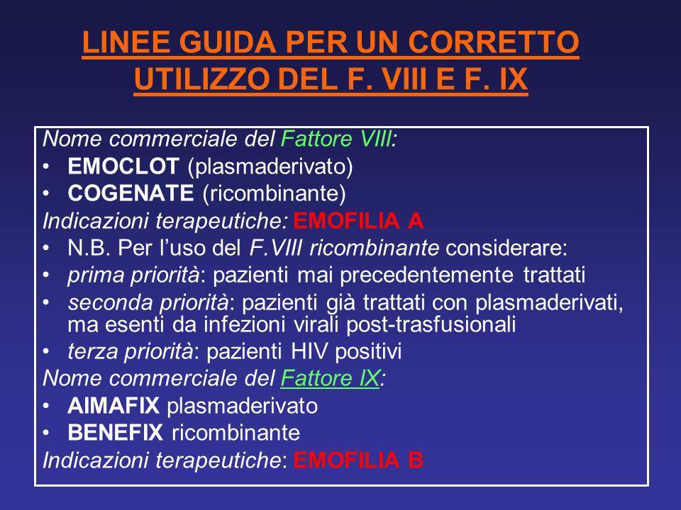 LINEE GUIDA PER UN CORRETTO UTILIZZO DEL F. VIII E F. IX