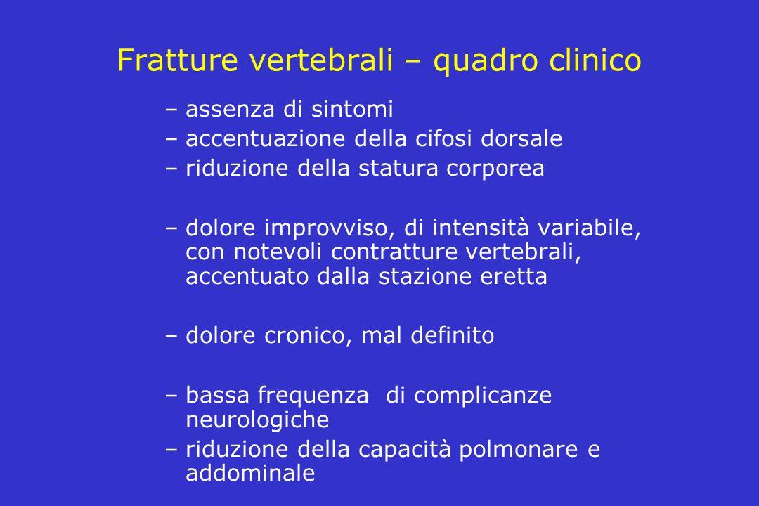 Fratture vertebrali – quadro clinico