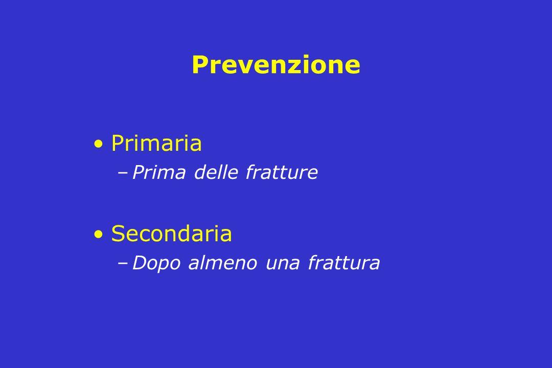 Prevenzione Primaria Secondaria Prima delle fratture