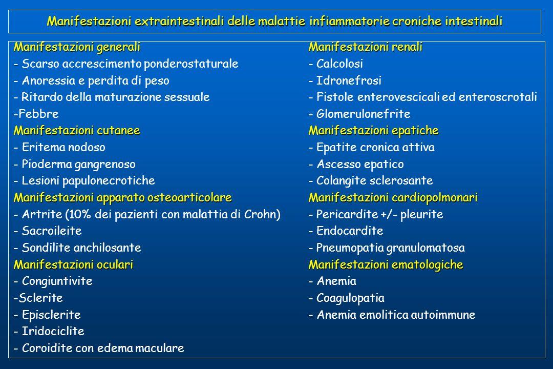 Manifestazioni extraintestinali delle malattie infiammatorie croniche intestinali