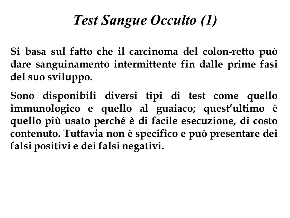 Test Sangue Occulto (1)