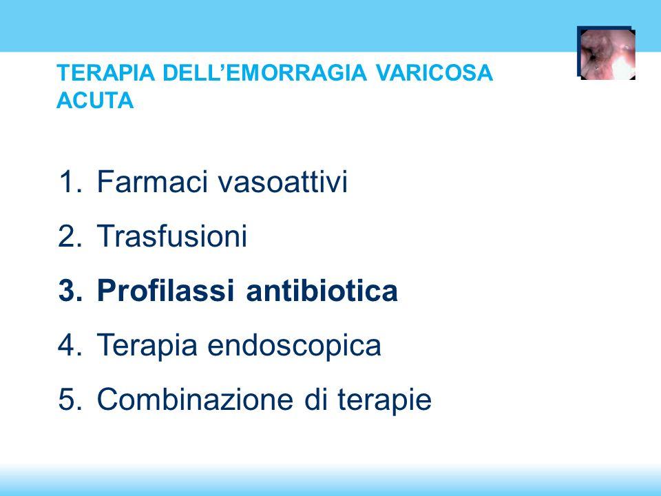 Profilassi antibiotica Terapia endoscopica Combinazione di terapie