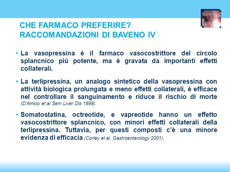 CHE FARMACO PREFERIRE RACCOMANDAZIONI DI BAVENO IV