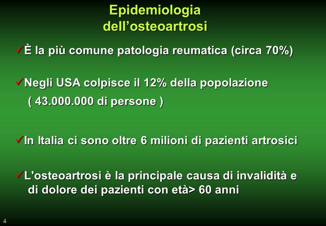Epidemiologia dell'osteoartrosi