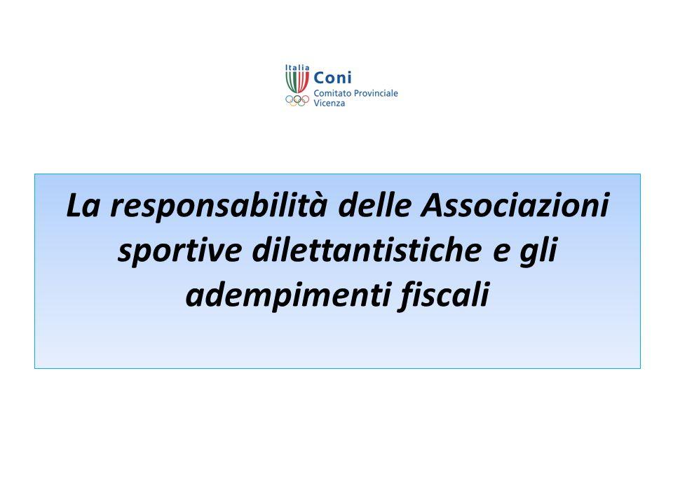 La responsabilità delle Associazioni sportive dilettantistiche e gli adempimenti fiscali