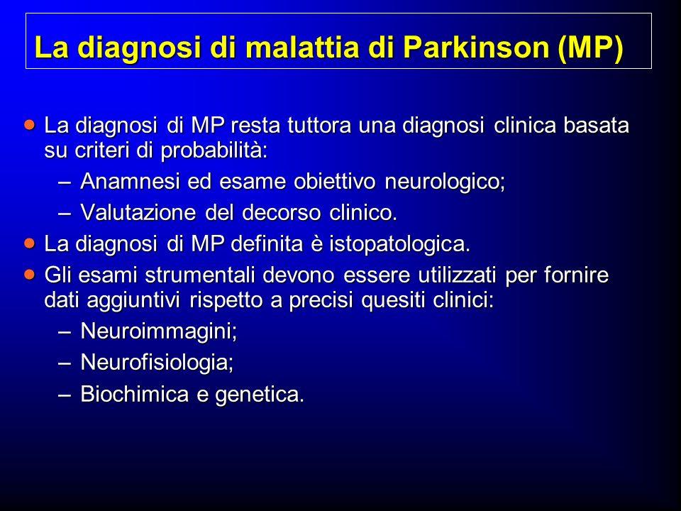 La diagnosi di malattia di Parkinson (MP)