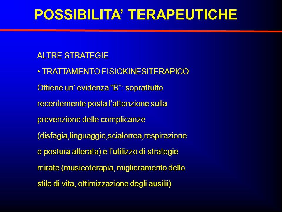 POSSIBILITA' TERAPEUTICHE