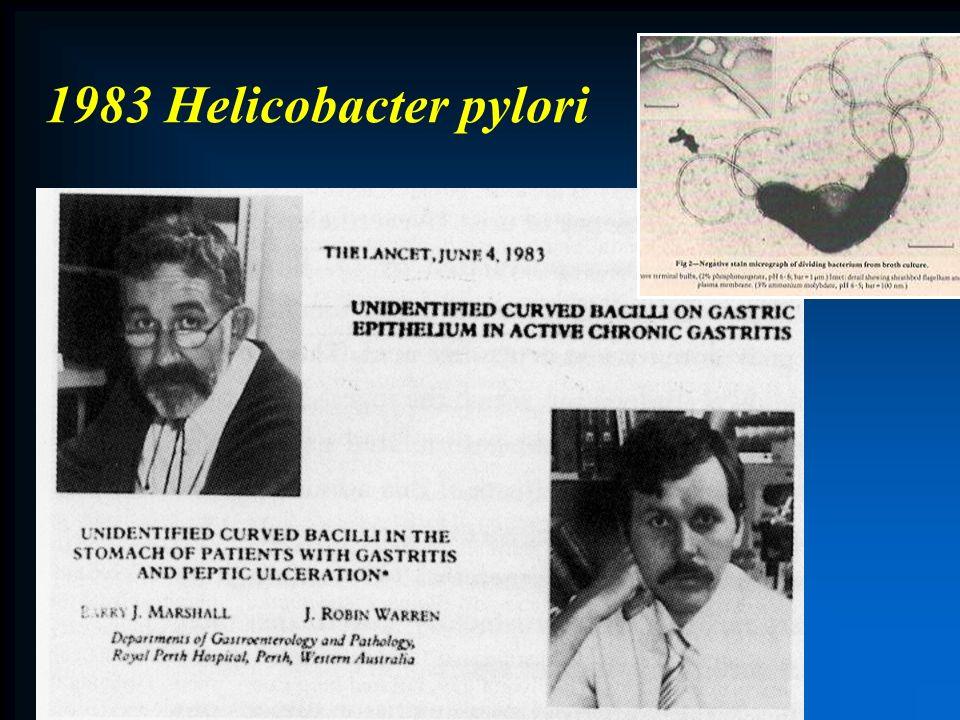 1983 Helicobacter pylori