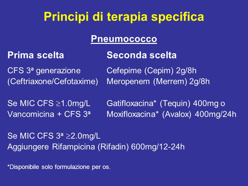 Principi di terapia specifica