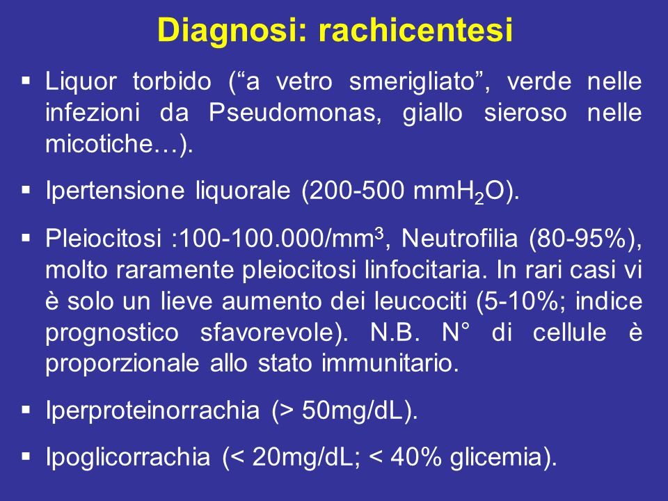 Diagnosi: rachicentesi