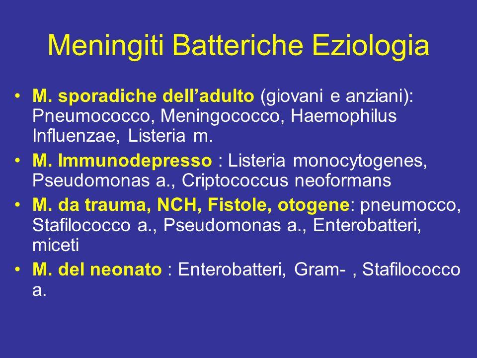 Meningiti Batteriche Eziologia