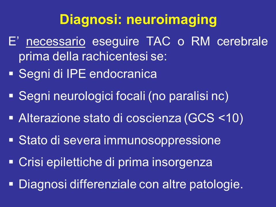 Diagnosi: neuroimaging