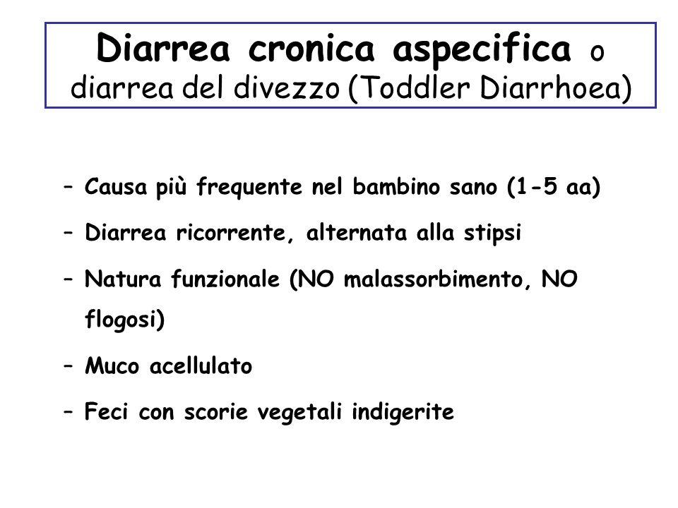 Diarrea cronica aspecifica o diarrea del divezzo (Toddler Diarrhoea)