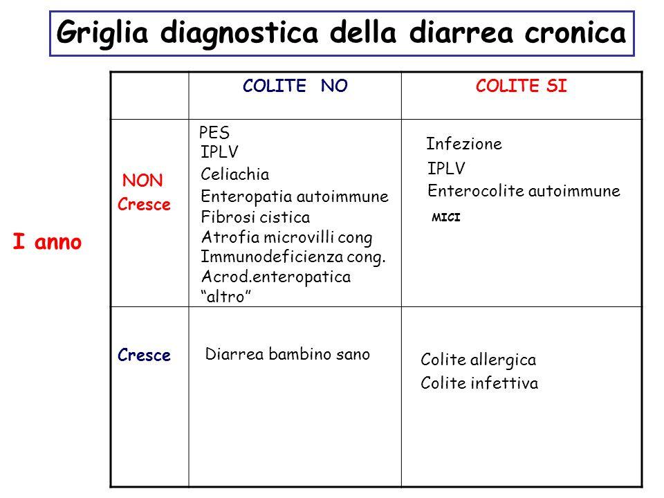 Griglia diagnostica della diarrea cronica