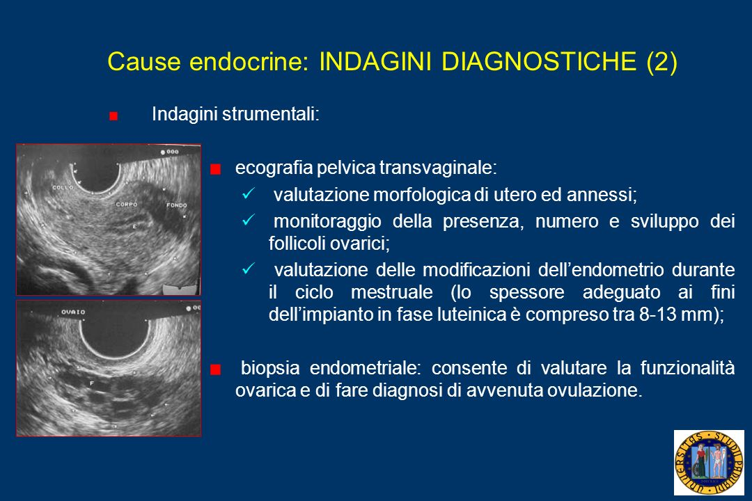 Cause endocrine: INDAGINI DIAGNOSTICHE (2)