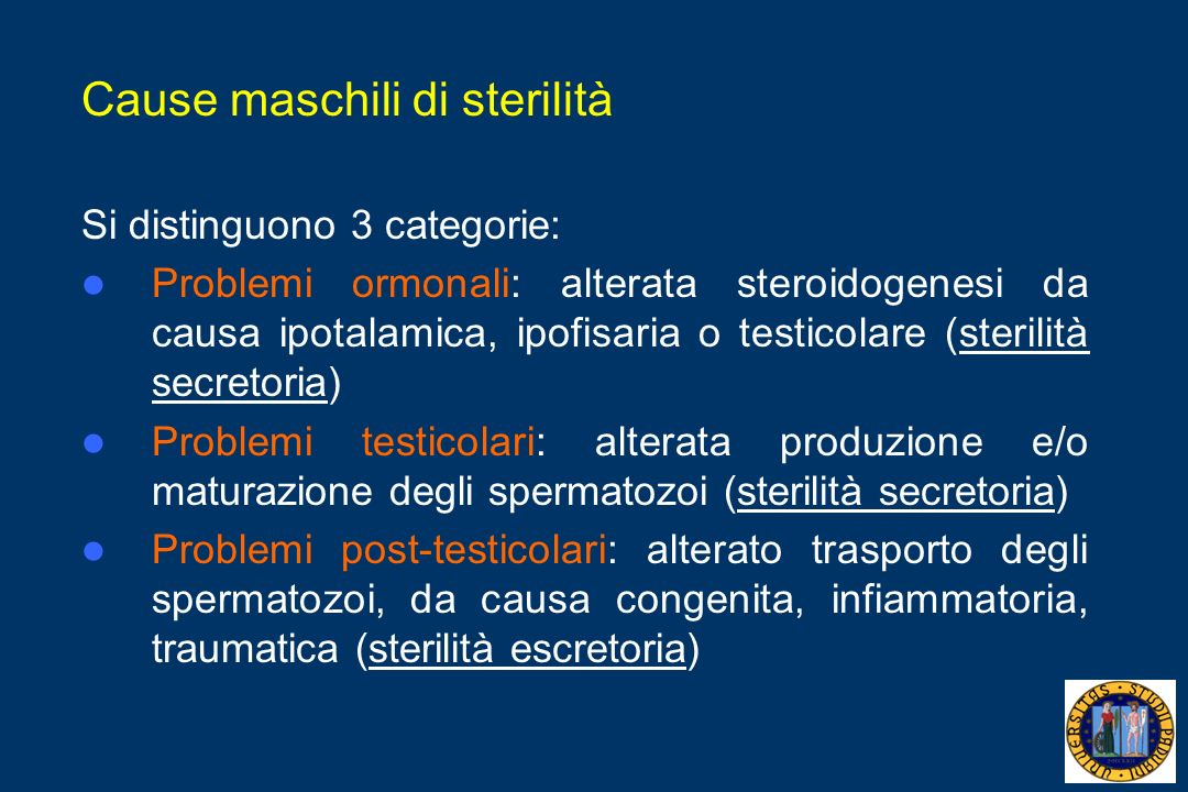Cause maschili di sterilità