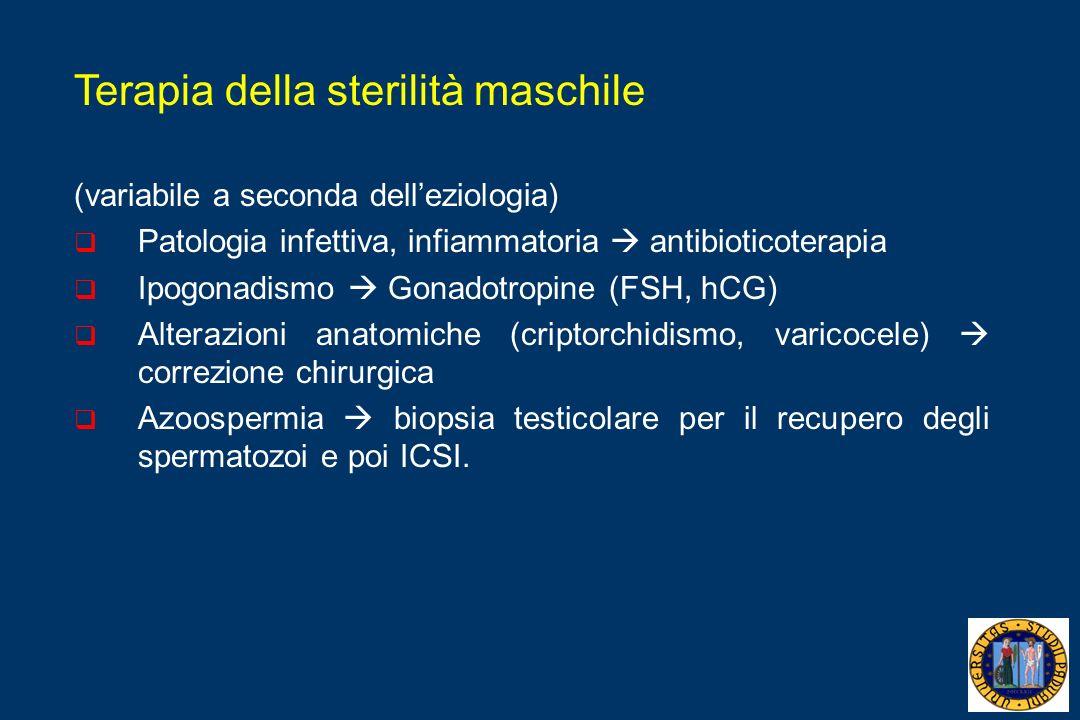 Terapia della sterilità maschile