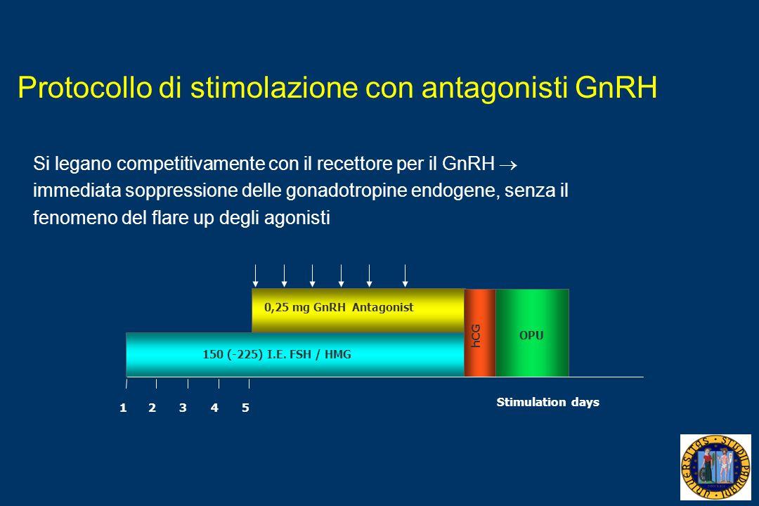 Protocollo di stimolazione con antagonisti GnRH