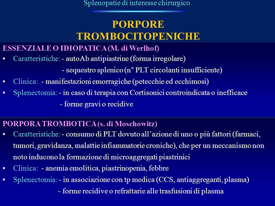PORPORE TROMBOCITOPENICHE