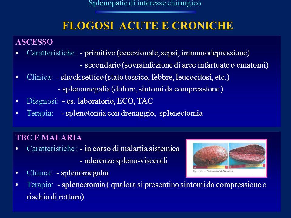 FLOGOSI ACUTE E CRONICHE