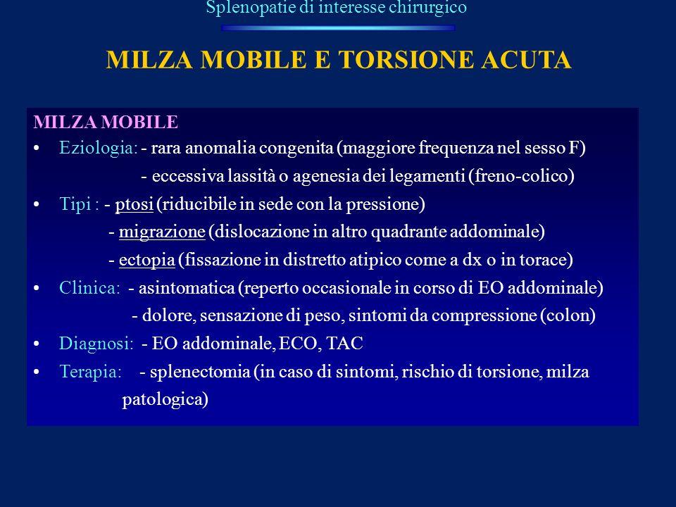 MILZA MOBILE E TORSIONE ACUTA