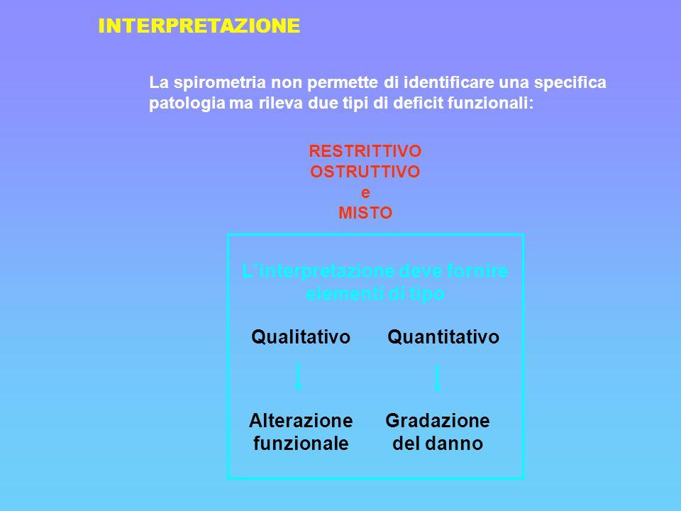 L'interpretazione deve fornire elementi di tipo